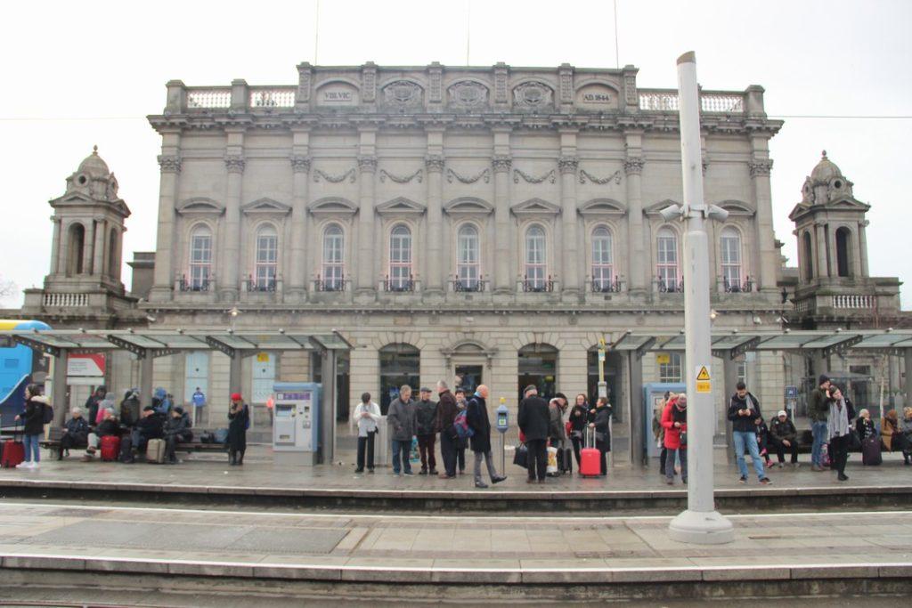 Heuston Railway station Dublin - Železniční stanice Heuston Dublin